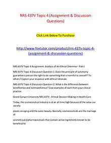 NRS 437V Topic 4 (Assignment & Discussion Questions)