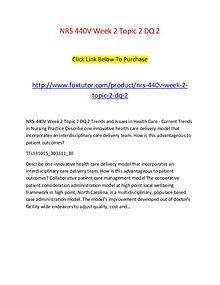 NRS 440V Week 2 Topic 2 DQ 2