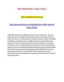 NRS 440V Week 4 Topic 4 DQ 2