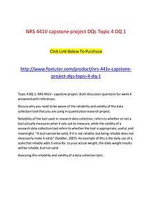 NRS 441V All Assignments