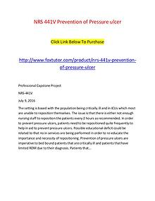 NRS 441V Prevention of Pressure ulcer