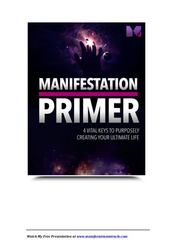 Manifestation Miracle Review Manifestation Primer Free Download PDF