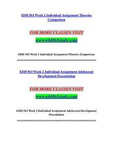 EDD 563 STUDY Imagine Your Future /edd563study.com