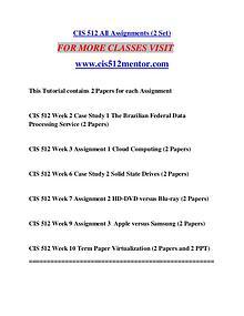 CIS 512 MENTOR Great Stories/cis512mentor.com