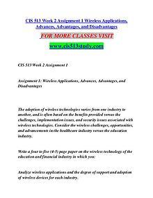 CIS 513 STUDY Great Stories/cis513study.com