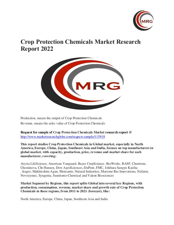 Crop Protection Chemicals Market - Industry Analysis, Size, Trend