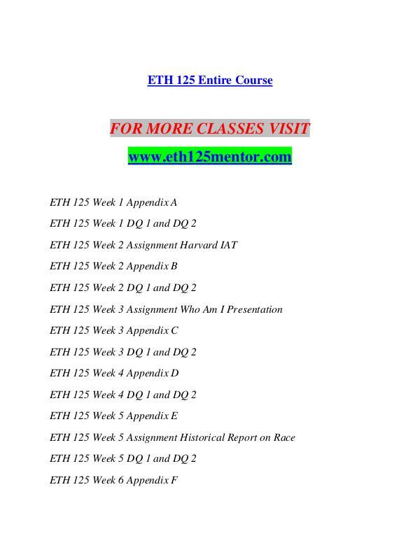 ETH 125 MENTOR Imagine Your Future /eth125mentor.com ETH 125 MENTOR Imagine Your Future /eth125mentor.