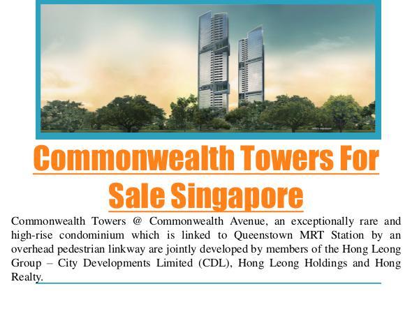 Commonwealth Towers Condominium Singapore Commonwealth Towers For Sale Singapore