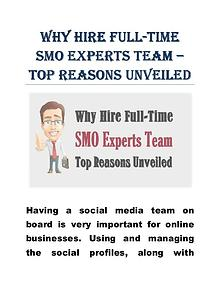 Why Hire Full-Time SMO Experts Team – Top Reasons Unveiled