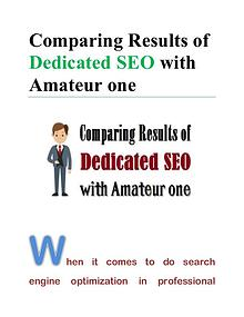 Comparing Results of Dedicated SEO with Amateur one
