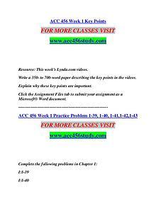 ACC 456 STUDY Start With a Dream /acc456study.com