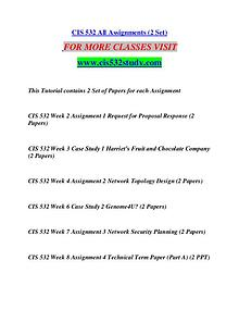 CIS 532 STUDY Great Stories/cis532study.com