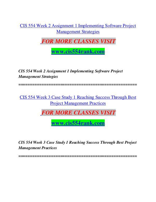 CIS 554 RANK Great Stories/cis554rank.com CIS 554 RANK Great Stories/cis554rank.com