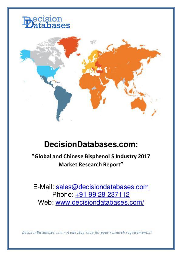 DDMarketReports Bisphenol S Market Report 2017