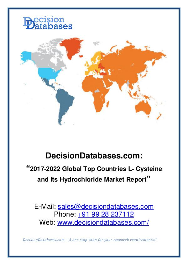 Market Report Global L- Cysteine and Its Hydrochloride Industry
