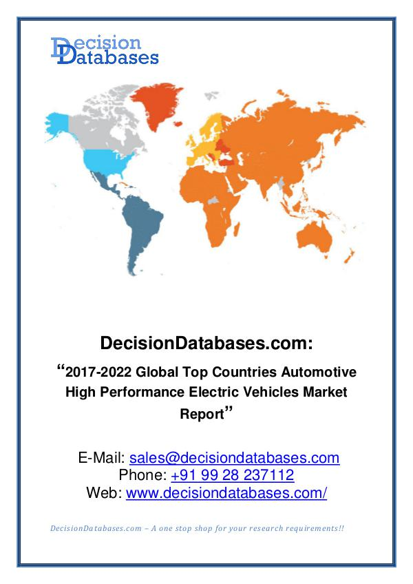 Market Report Global High Performance Electric Vehicles Market