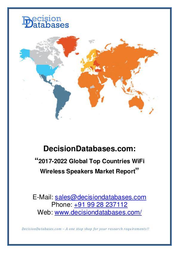 Market Report Global WiFi Wireless Speakers Market Report 2017