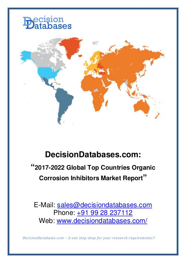 Market Report Global Organic Corrosion Inhibitors Market Report