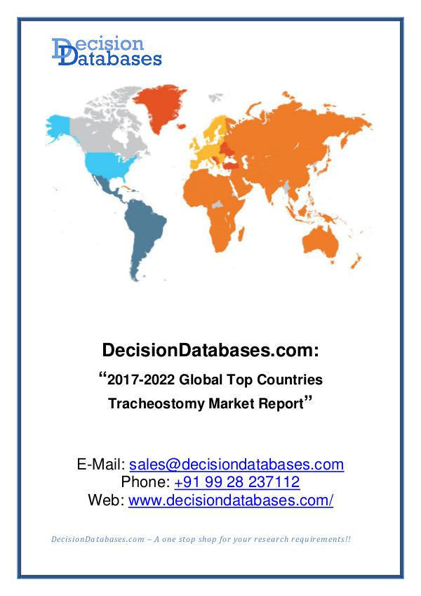 Market Report Global Tracheostomy Market Report 2017