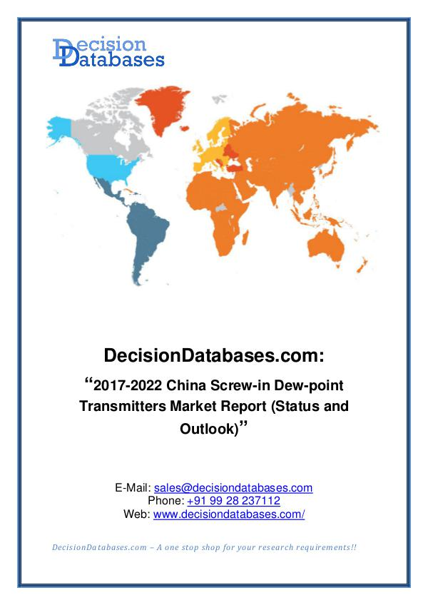 Market Report China Screw-in Dew-point Transmitters Market