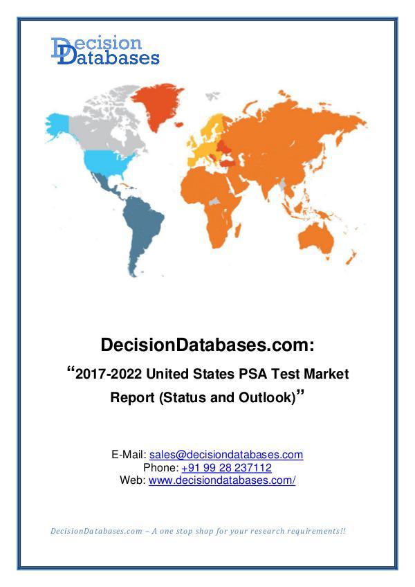 Market Report United States PSA Test Market Report 2017-2022