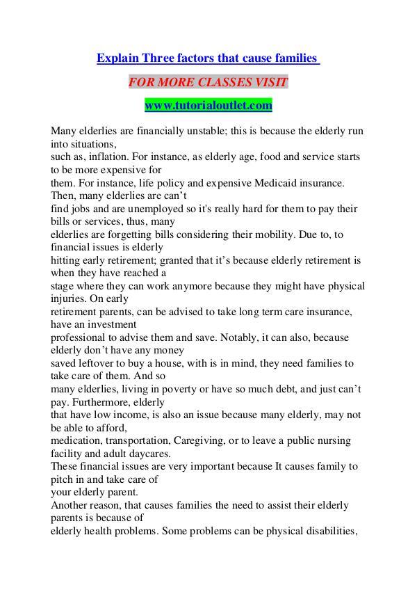 EXPLAIN THREE FACTORS THAT CAUSE FAMILIES / TUTORIALOUTLET DOT COM EXPLAIN THREE FACTORS THAT CAUSE FAMILIES / TUTORI