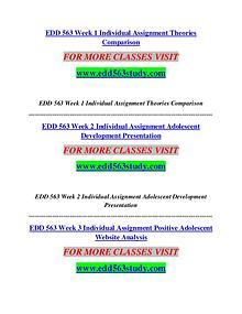 EDD 563 STUDY  Creative and Effective /edd563study.com