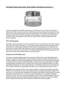 Dermalab Moisturizing Lotion- Bring brilliant and fabulous skin today