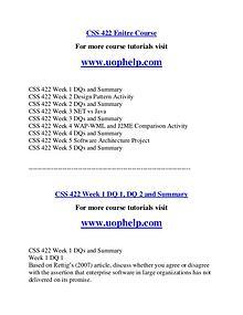 CSS 422  Help Making Decisions/uophelp.com