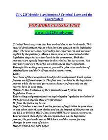 CJA 225 STUDY Great Stories/cja 225 study.com