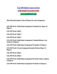 CJA 305 STUDY Great Stories/cja305study.com