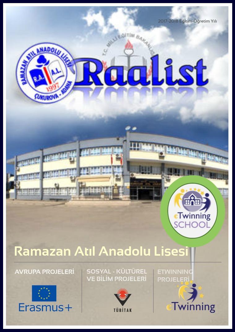 Raalist Ramazan Atıl Anadolu Lisesi Yıllık Dergi
