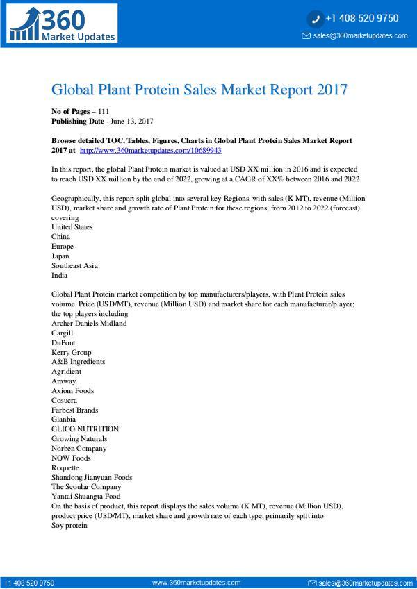 PR Global-Plant-Protein-Sales-Market-Report-2017