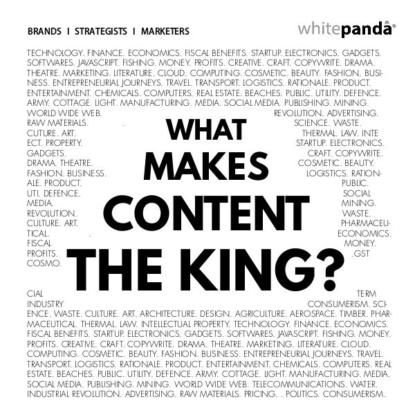 What makes content the king? What makes content the king!