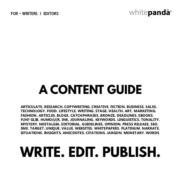 Content Guidelines Writer - editor guidelines (pages)