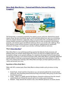 Detox Body Blast Review – Natural and Effective Internal Cleansing Co