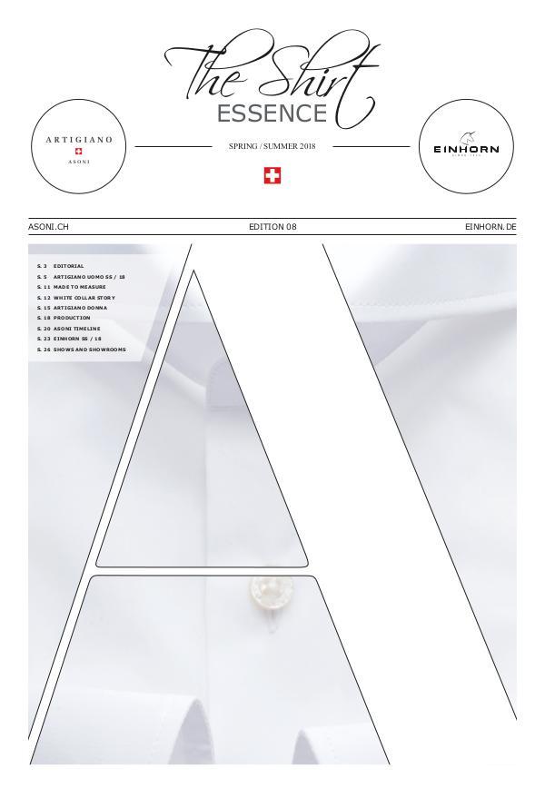 The Shirt Essence / ASONI spring/summer 18 The Shirt Essence