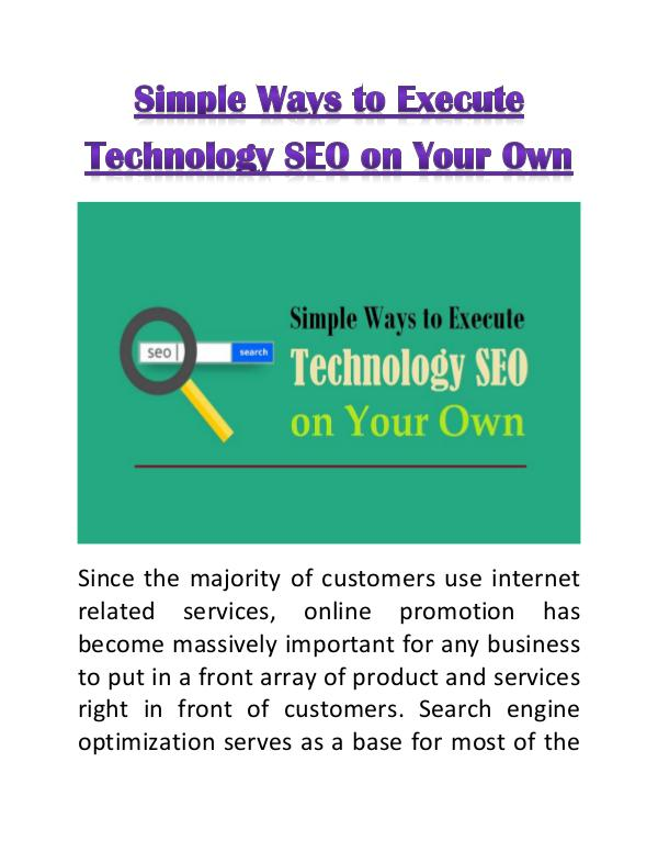 List of Industries Gaining Profit from SEO Simple Ways to Execute Technology SEO on Your Own