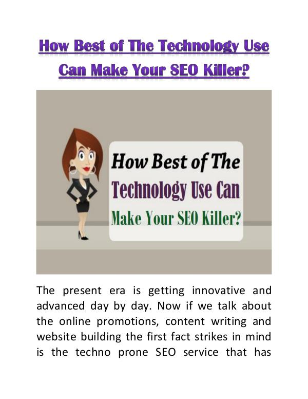 List of Industries Gaining Profit from SEO How Best of The Technology Use Can Make Your SEO