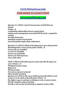 GSCM 520 RANK Keep Learning /gscm520rank.com