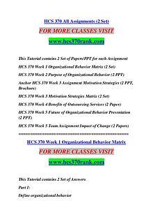 HCS 370 RANK Keep Learning /hcs370rank.com