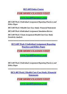 HCS 405 MENTOR Keep Learning /hcs405mentor.com