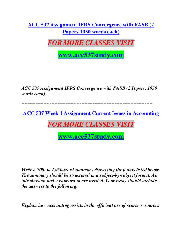 ACC 537 STUDY Start With a Dream /acc537study.com ACC 537 STUDY Start With a Dream /acc537study.com