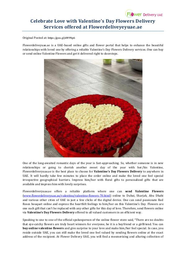 My first Magazine Celebrate Love with Valentine's Day Flowers Delive