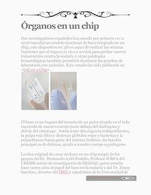 Órganos en un Chip