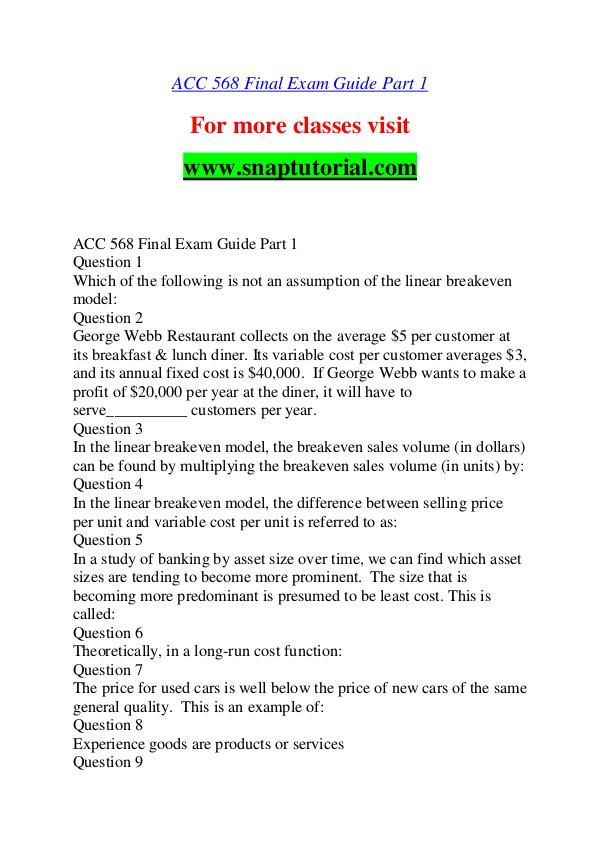 ACC 568 help A Guide to career/Snaptutorial ACC 568 help A Guide to career/Snaptutorial