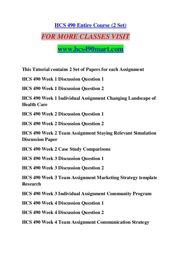 HCS 490 MART Keep Learning /hcs490mart.com HCS 490 MART Keep Learning /hcs490mart.com