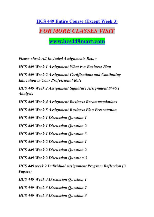 HCS 449 MART Keep Learning /hcs449mart.com HCS 449 MART Keep Learning /hcs449mart.com