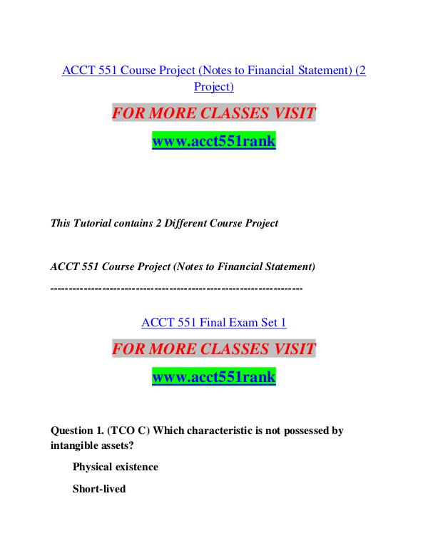ACCT 551 RANK Start With a Dream /acct551rank.com ACCT 551 RANK Start With a Dream /acct551rank.com