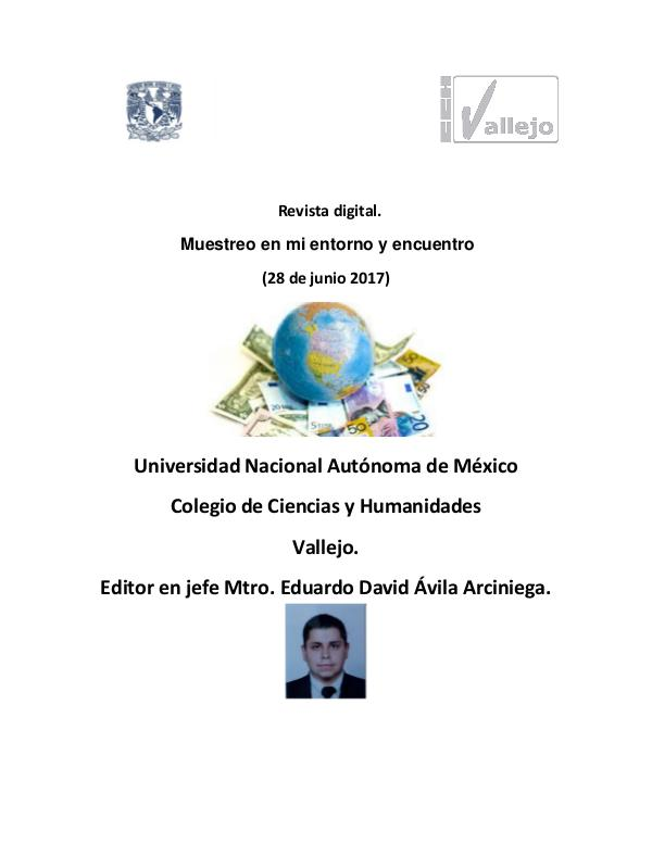 Estadística aplicada a la Economía RevistamuestreoestadísticoEduardoDavidAvilaArcinie